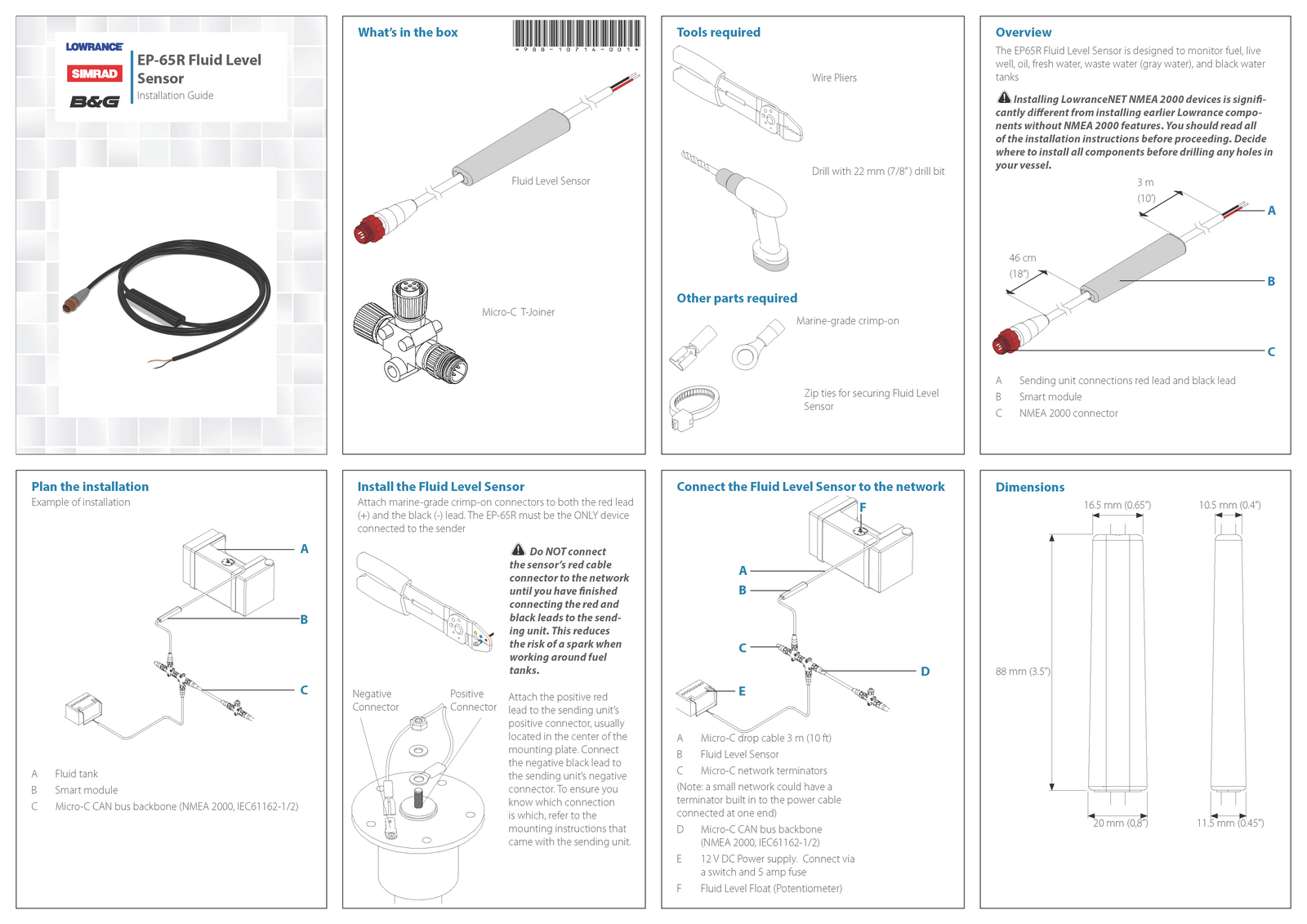 Sensor Installation Guides For Navico Fluid Level